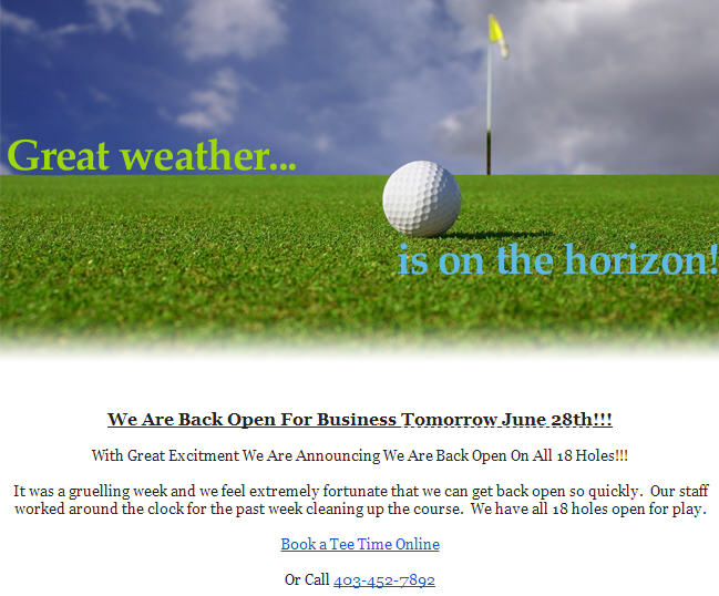 Blue Devil Golf Club Back Open for Business after Flood! (June 28)
