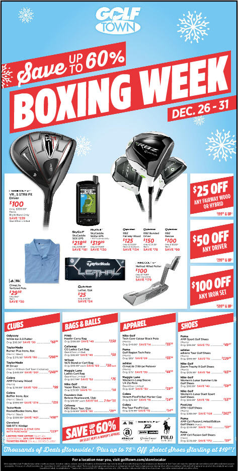 Golf Town Boxing Week Sale - Save up to 60 Off (Dec 26-31)