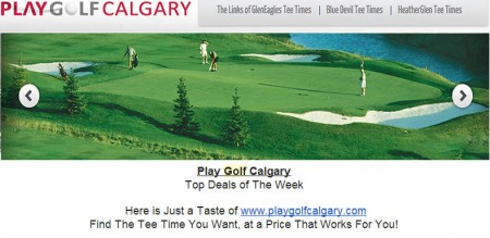 Play Golf Calgary Stampede Week Specials