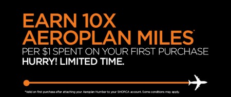 Aeroplan Earn 10X Miles at SHOP and 5X Miles at Costco