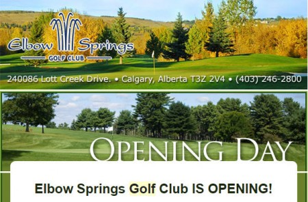 Elbow Springs Golf Club Course Opening on March 27, 2015