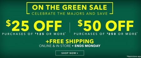 Golf Town $25 Off $125 Purchase or $50 Off $250 Purchase (Apr 9-11)